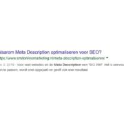 meta description optimaliseren voor SEO